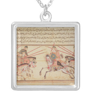 Battle between Mongol tribes, 13th century Silver Plated Necklace