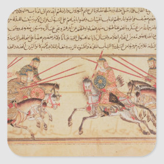 Battle between Mongol tribes, 13th century Square Sticker