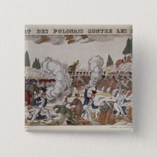 Battle between Polish and Russian Troops, 1831 Pinback Button