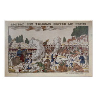 Battle between Polish and Russian Troops, 1831 Poster