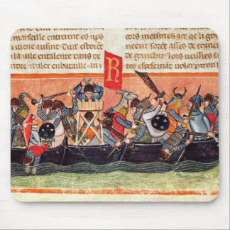 Battle between Romans and Gauls Mouse Pad
