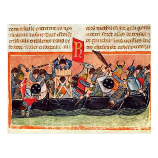 Battle between Romans and Gauls Postcard