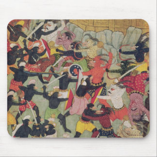Battle Between the Armies of Rama and Ravana Mouse Pad