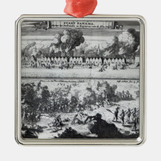 Battle between the Buccaneers Square Metal Christmas Ornament