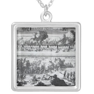 Battle between the Buccaneers Silver Plated Necklace