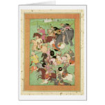 Battle between the forces of Iran and Turan, illus Greeting Card