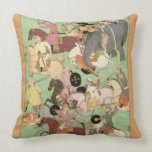 Battle between the forces of Iran and Turan, illus Pillows