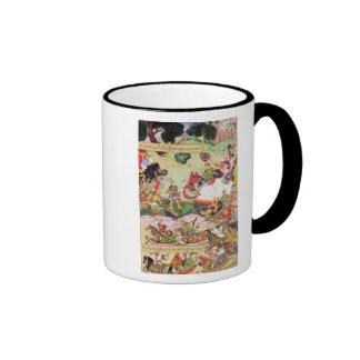 Battle between the forces of Persia and Turan Ringer Coffee Mug