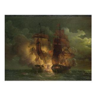 Battle Between the French Frigate 'Arethuse' Postcard