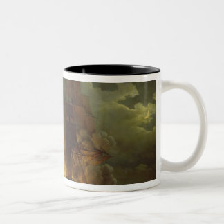 Battle Between the French Frigate 'Arethuse' Two-Tone Coffee Mug