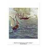 "Battle Between The Kearsarge ""And The"" Alabama """" Postcard"