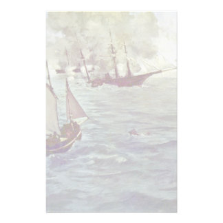 """Battle Between The Kearsarge """"And The"""" Alabama """""""" Personalized Stationery"""
