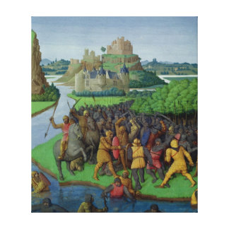 Battle between the Maccabees and the Bacchides Canvas Print