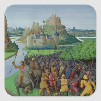 Battle between the Maccabees and the Bacchides Square Sticker