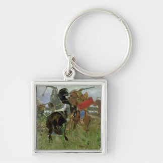 Battle between the Scythians and the Silver-Colored Square Keychain