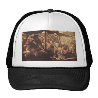 Battle between Turks and Christians by Tintoretto Trucker Hat