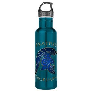 Battle Blue Spartan Warrior Blue 24oz Water Bottle