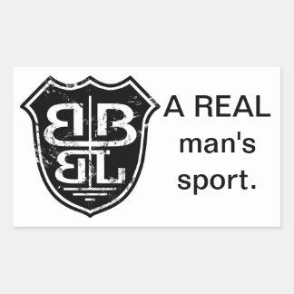 Battle Born Box Lacrosse Merchandise Rectangular Sticker