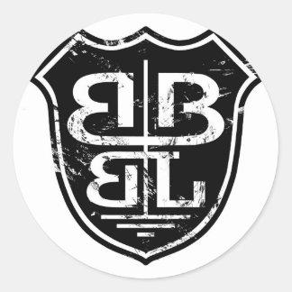 Battle Born Box Lacrosse Merchandise Round Stickers