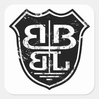 Battle Born Box Lacrosse Merchandise Square Sticker