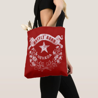 Battle Born - Nevada, Las Vegas. Flag Logo Vintage Tote Bag