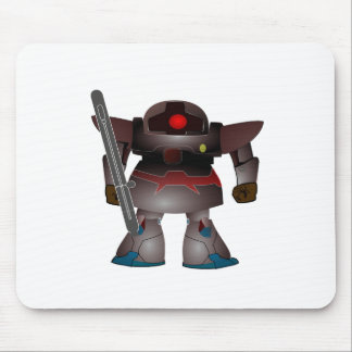 Battle Bot by Chillee Wilson Mouse Pad