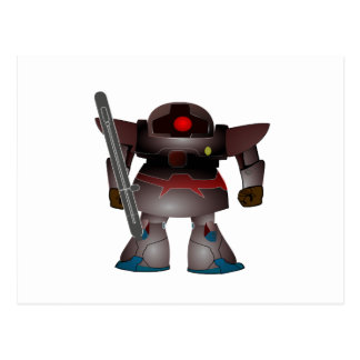 Battle Bot by Chillee Wilson Postcard