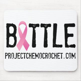 BATTLE breast cancer logo from Pink Warriors, Inc Mouse Pad