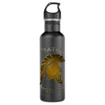 Battle Bronze Spartan Warrior Pine Stainless Steel Water Bottle