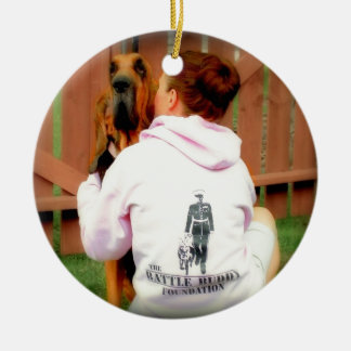 Battle Buddy  and PTSD Awareness Double-Sided Ceramic Round Christmas Ornament
