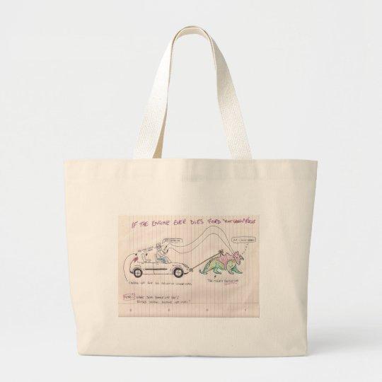 Battle Cat inspired Focus Large Tote Bag