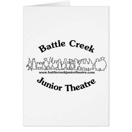 Battle Creek Junior Theatre Logo (Black) Card