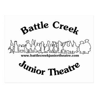 Battle Creek Junior Theatre Logo (Black) Postcard