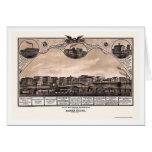 Battle Creek, MI Panoramic Map - 1869 Card