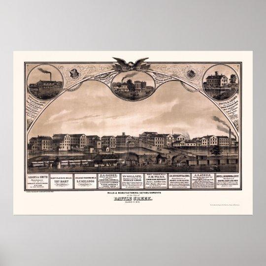Battle Creek, MI Panoramic Map - 1869 Poster