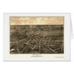Battle Creek, MI Panoramic Map - 1870 Card