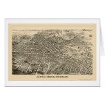 Battle Creek, MI Panoramic Map - 1880s Card