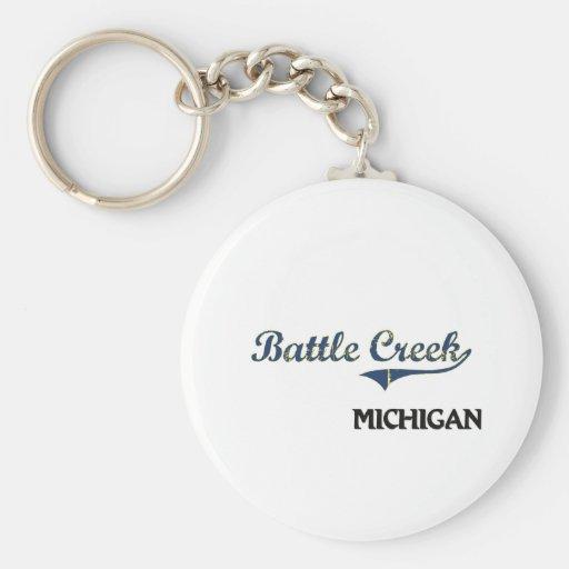 Battle Creek Michigan City Classic Keychains