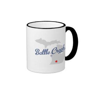Battle Creek Michigan MI Shirt Ringer Mug