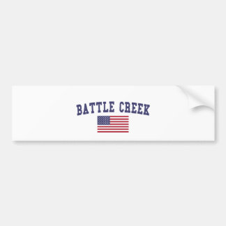 Battle Creek US Flag Bumper Sticker