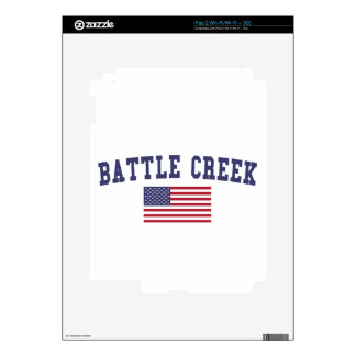 Battle Creek US Flag Decals For The iPad 2
