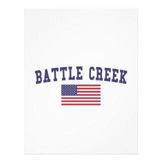 Battle Creek US Flag Letterhead