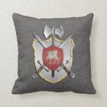 Battle Crest Dragon Grey Pillows