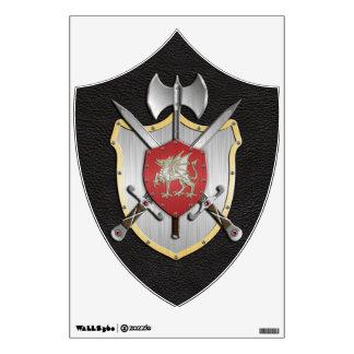 Battle Crest Dragon Wall Sticker