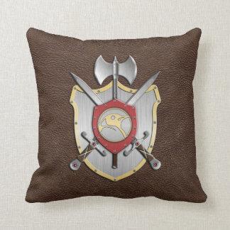 Battle Crest Penguin Brown Pillow