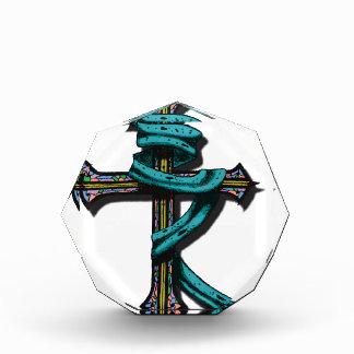 Battle Cross Colored Acrylic Award