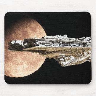 Battle Cruiser Leaving Orbit Mouse Pad