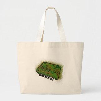 battle dj large tote bag