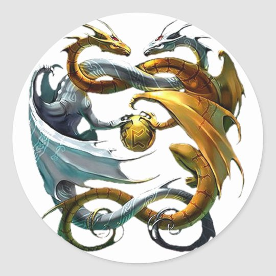 Battle Dragons Classic Round Sticker