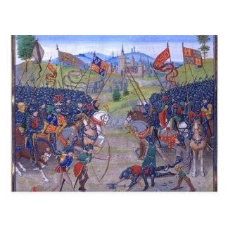 Battle English vs. French Postcard